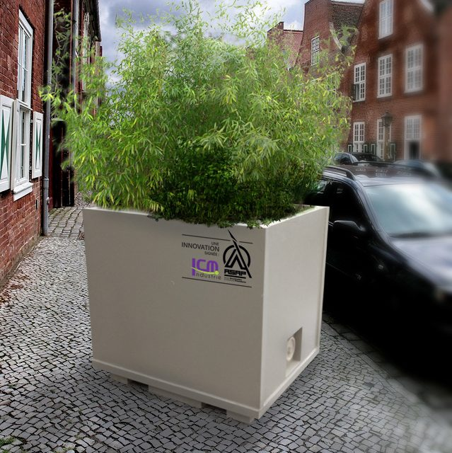 DEFENSE: A FLOWER POT THAT STOPS THE CARS OF TERRORISTS